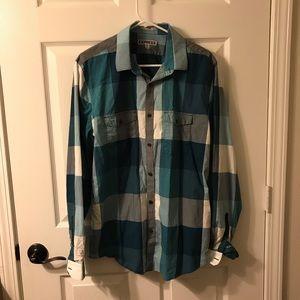 Express Button Down Teal Shirt